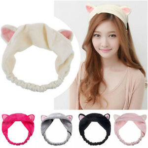 Cute Cat Ear Headband Casual Party Makeup Hairband Soft Velvet Hair ... 38749df801b2