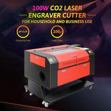 100w 28x20 Co2 Laser Engraver Cutter Cutting Engraving Machine Ruida With Wheel