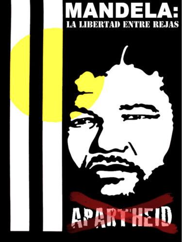 Cuban poster.NELSON MANDELA.Africa APARTHEID History.Home interior wall design