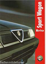 Alfa Romeo 33 Sportwagon Brio Italian 6 Page Brochure 1993 Mint Condition