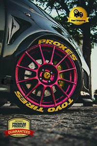Permanent-Tire-Lettering-TOYO-TIRES-PROXES-Yellow-14-034-24-034-TYRE-DECAL-1-25-034-4TIRES
