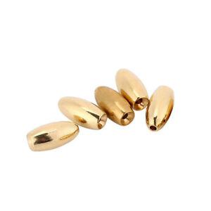 FJ-EG-5pcs-Bullet-Shape-Brass-Lead-Weights-Drop-Slider-Sea-Fishing-Tackle-Sink