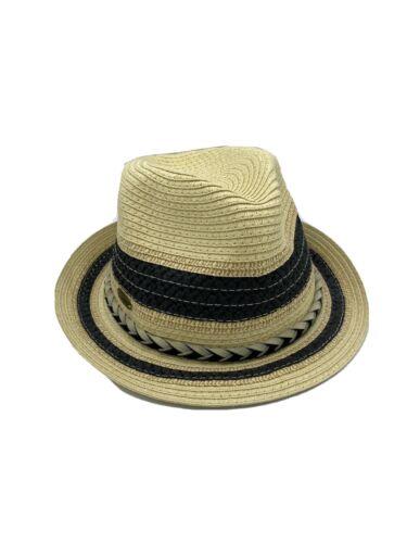 Sea 'N' Sand Black Trim Straw Hat
