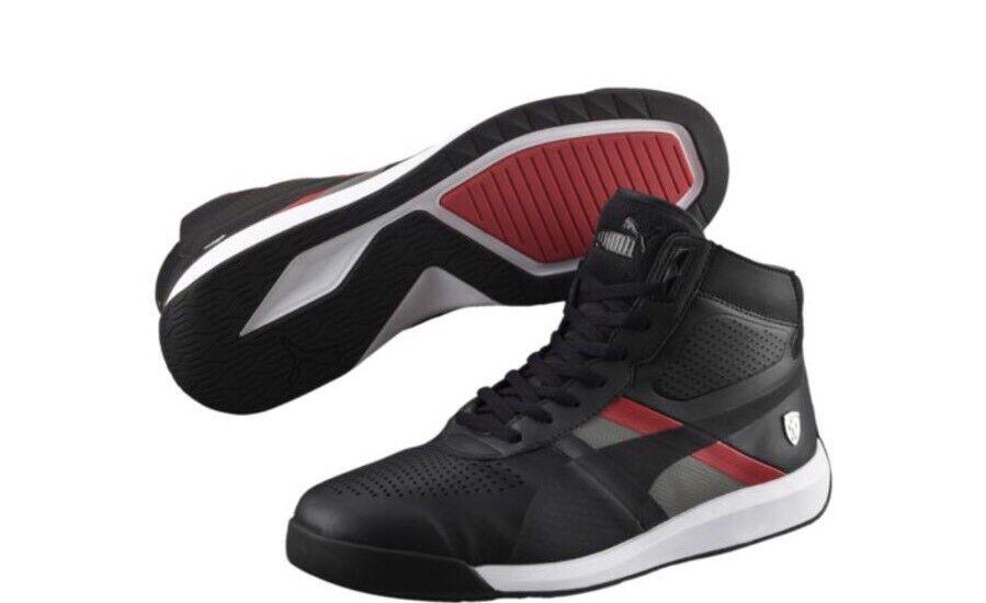 New Puma Ferrari Podio Mid Men High Tops Sneakers Shoes Fashion Size 11.5 Unique
