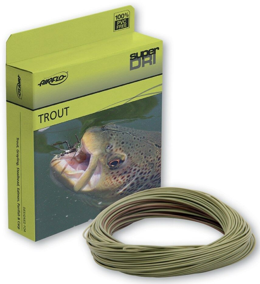 AIRFLO BeIT TROUT WF-4-F  4 WT CAMO OLIVE WEIGHT FORWARD FLOATING FLY LINE