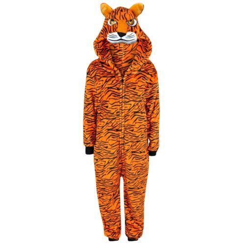 Bambini Ragazzi Ragazze A2Z TUTINA UN PEZZO morbido e Tigre Costume Di Halloween 7-13 anni