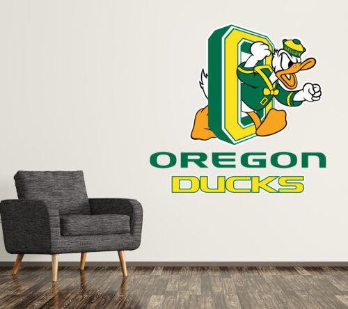 Oregon Ducks Wall Decal Logo College NCAA Art Sticker Vinyl LARGE SR10