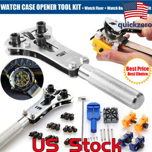 Watch-Band-Back-Case-Opener-Fixer-Repair-Tool-Kit-Watchmaker-Screw-Cover-Remover