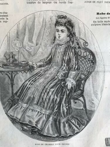 BALL GOWNS BRIDAL DRESS MODE ILLUSTREE SEWING PATTERN Feb 4,1883