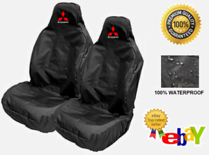 Car Seat Covers Protectors x2 MITSUBISHI Fits Mitsubishi Pajero