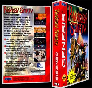 Phantasy Star 4 World Map.Phantasy Star 4 Sega Genesis Reproduction Art Case Box No Game Ebay