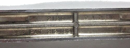 """Pull Handle Repurposed Concave Ribbed Chrome Cabinet Door Drawer Screw Spread=4/"""""""