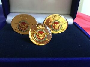 RAF-Defence-Export-Cufflinks-And-Lapel-Badge-Brand-New
