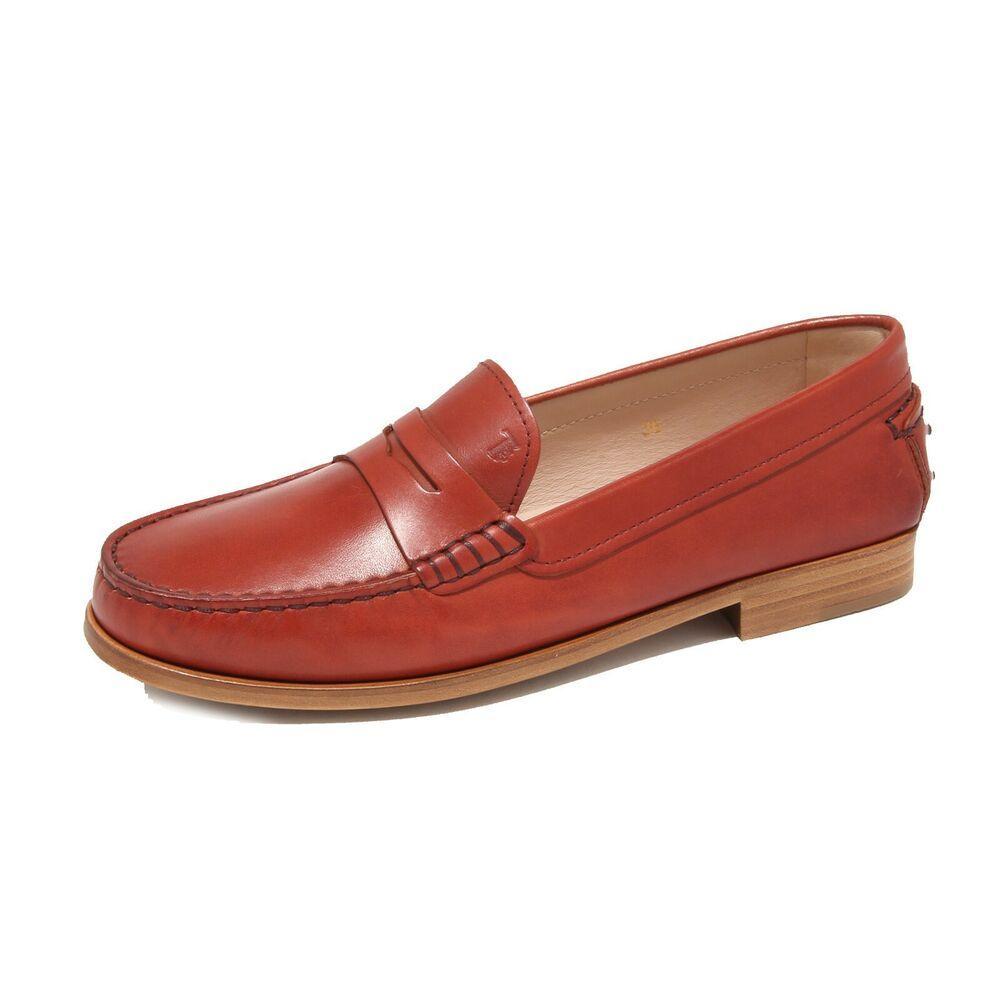 7918l Mocassini Donna Tod's Cuoio Scarpe Loafers Shoes Women à Distribuer Partout Dans Le Monde