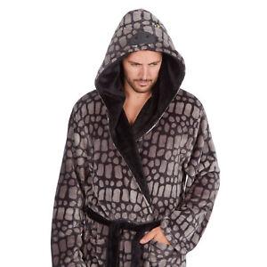 Mens Super Soft Dinosaur Design Dressing Gown ~ M-2XL