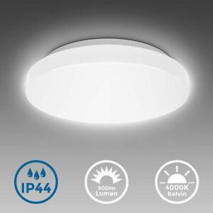 Deckenleuchte Bad rund Badezimmer-Lampe flach IP44 Schlafzimmer Küche Flur 10W