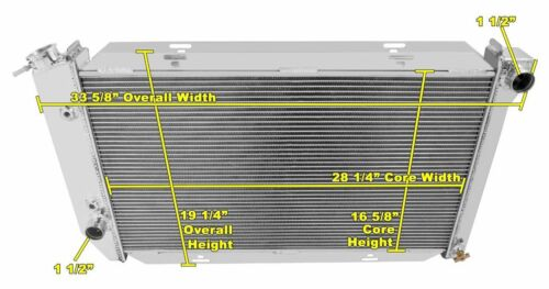 "1972 1973 1974 1975-79 Ranchero 3 Row WR Radiator 17-5//8/"" x 28/"" Wide Core"