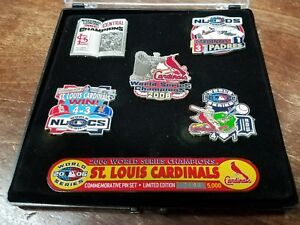 Lot-of-6-St-Louis-Cardinals-World-Series-Champions-2006-Limited-Edition-Pin-Set