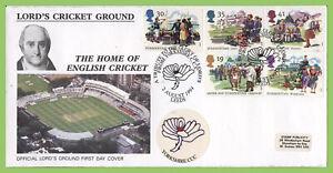 Graham-Brown-1994-conjunto-de-verano-en-S-P-Oficial-Primer-Dia-Cubierta-Yorkshire-CCC