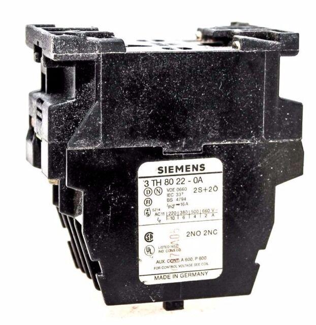 siemens 3th80 22 0a 24 volt coil contactor ebay rh ebay com