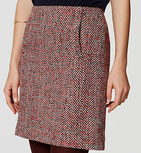 Skirts Clothing, Shoes & Accessories Ann Taylor Loft Tweed Zipper Pocket Pencil Skirt Boucle Burgundy Career Size 10 Clients First