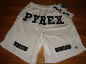 Pyrex Vision Shorts Large Religion Gym White Kanye RSVP ...  Pyrex Vision Sh...