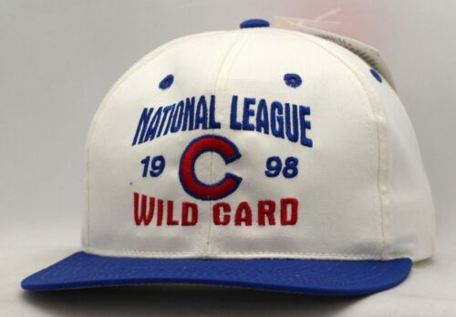 Chicago Cubs 1998 Wild Card Blue//White Snapback-CC1497