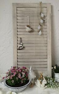 Dettagli su Persiane Legno Bianco Grigio Decorazione Giardino Cucina Shabby  Chic 48x30cm