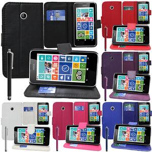 Housse-Etui-Coque-Portefeuille-Support-Video-Nokia-Lumia-630-630-3G-635-638