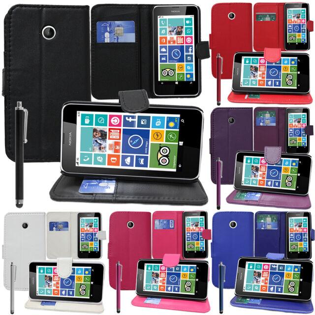 Housse Etui Coque Portefeuille Support Video Nokia Lumia 630/ 630 3G/ 635/ 638