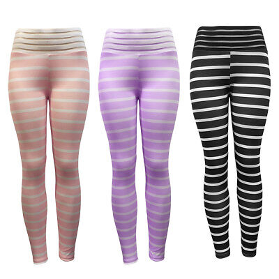 EG/_ Women Colorful Zebra Striped Slim Elastic Yoga Pants Fitness Leggings Raptur