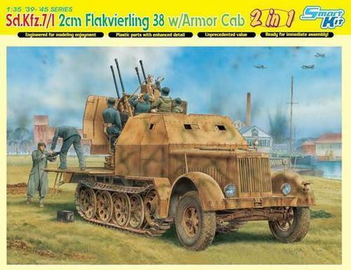 Dragon  35 Sd. Kfz. 7 1 2cm Flakvierling 38 w Armor Cab (2 in 1)  Smart