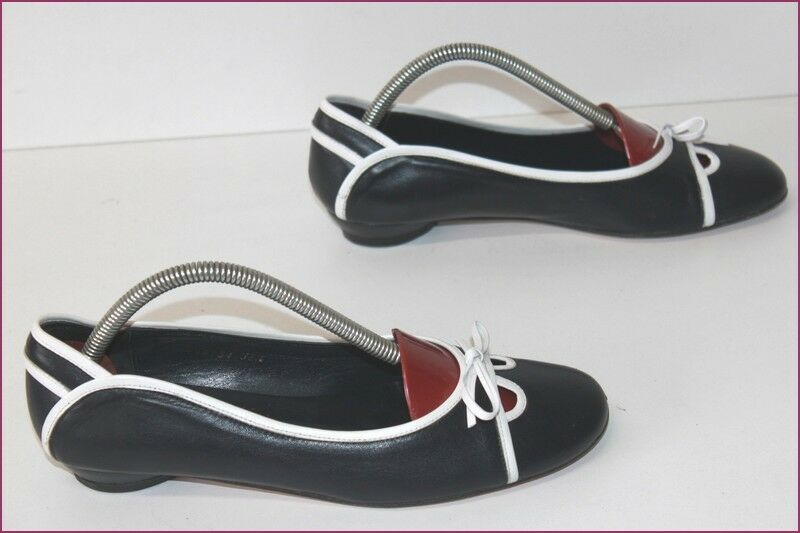 Libra Libra Libra shoes Ballet Flat all Leather Midnight bluee T 38.5 Very Good Condition 19a55a