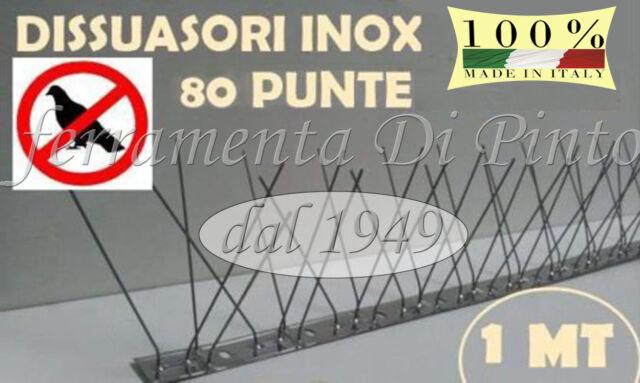 25M Bolardo 80 Pines Repelente Aves Palomas Palomas Inoxidable 100CM