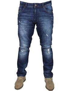 DML-gravite-Homme-Slim-Effet-Vieilli-Jeans-Denim-Pantalon-Pantalon-Loisirs-28-38
