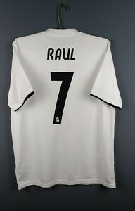 4-7-5-Raul-Real-Madrid-jersey-Large-2018-2019-home-shirt-DH3372-Adidas-ig93