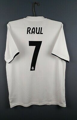 online store df2ee 7f020 Details about 4.7/5 Raul Real Madrid jersey Large 2018 2019 home shirt  DH3372 Adidas ig93