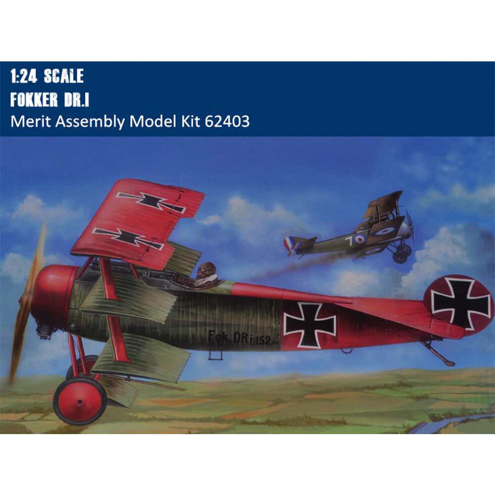 Plastic Plane Static 1 24 Aircraft Fokker Dr.I Fighter Bomber Trumpeter 62403