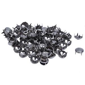 1X-100x-10mm-Metall-DIY-Kegelnieten-Nieten-Ziernieten-Gothic-D7W7-DA
