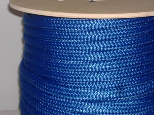 "Blue Nylon 3//4/""x100/' double braid rope anchor mooring dock lines"