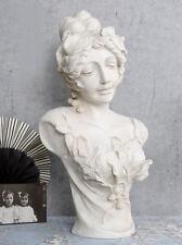 Grosse Frauenbüste im Jugendstil 60cm Frauenkopf Weiss Büste Antik