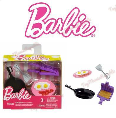 Barbie Doll Cooking Breakfast Waffle Kitchen Set Accessories Pack Mattel New Ebay