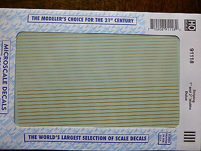 """Microscale Decal #91118 Stripping 1"""" and 2"""" Widths - Dulux (1:87 Scale)"""