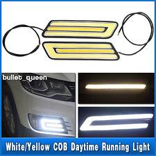 Pair LED Car White Daytime Running Light Daylight DRL Fog Driving Turn Lamp 12V