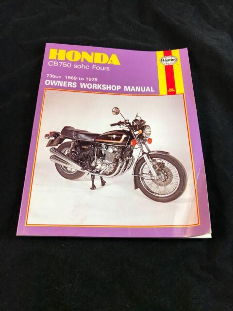 Honda Cb750 Cb 750 Sohc Fours Haynes Owners Manual No 131 736cc 1969 1979 For Sale Online Ebay