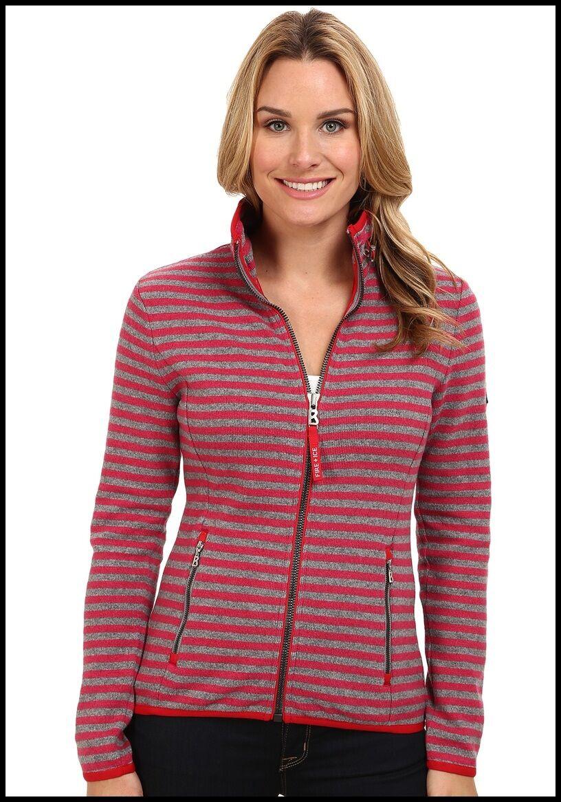 Nuevo 2015 Bogner Cremallera Completa Britta Peso Medio Suéter women 8 10