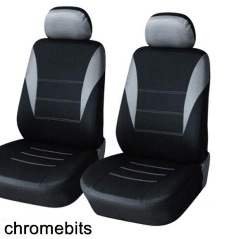 Renault Espace Kangoo Trafic Master Grey Black Fabric Front Seat Covers 1+1