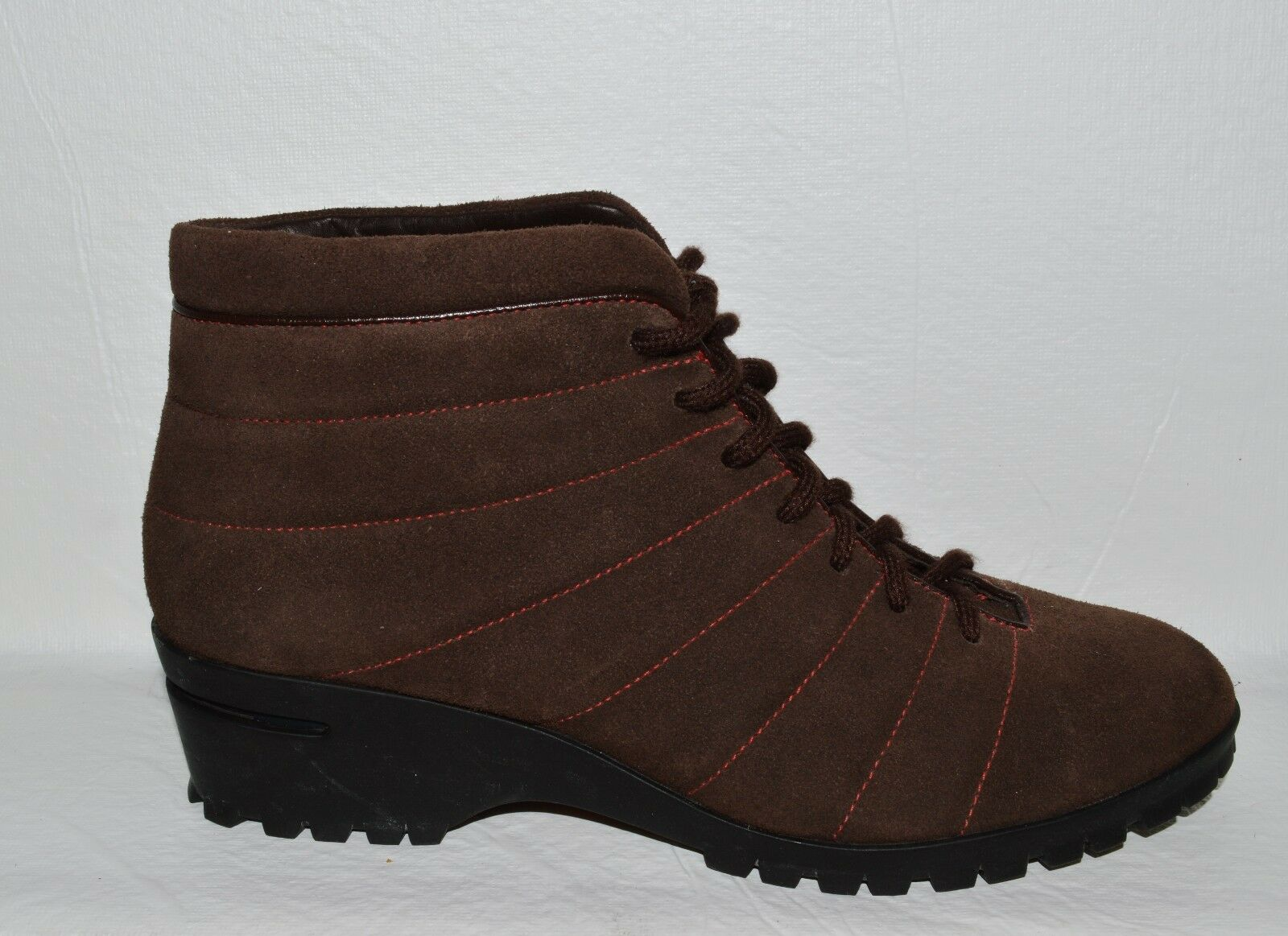 COLE HAAN AIR SZ 7.5 M BROWN SUEDE LEATHER LACE UP ANKLE BOOTS BOOTIES