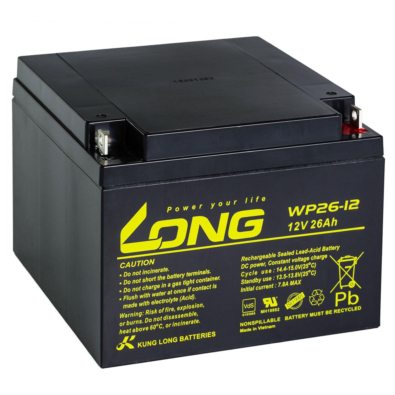 12V 26Ah 26Ah 26Ah LONG WP26-12 VdS Akku AGM GEL Blei Batterie 24 28 Ah Solar Alarm | eine breite Palette von Produkten  ed2e48