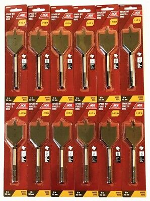 "10  DEWALT  7//8/"" X 6/""  SPADE//PADDLE WOOD DRILL BITS WITH 1//4/"" QUICK CHANGE SHANK"